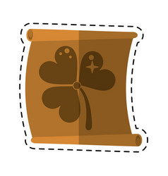 Cartoon st patricks day clover papyrus vector