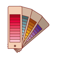 Color palette guide scale set in colorful vector