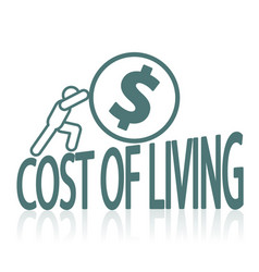 Cost of living issues vector