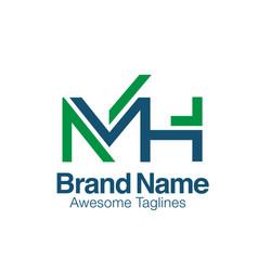 Creative initial letter mh logo concept vector