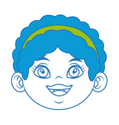 Cute face girl smiling young child image vector