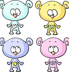 cute teddy bears - isolated on white backgr vector image