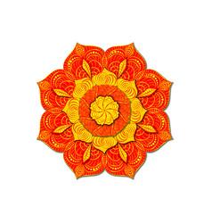 decorative colored mandala radial volumetric vector image