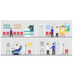 dental clinic interior set vector image