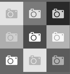 digital camera sign grayscale version of vector image