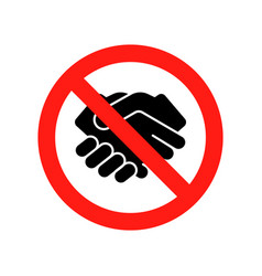 Dont handshake contact icon hand shake prohibited vector