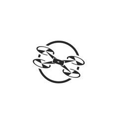 drone logo and symbol vector image