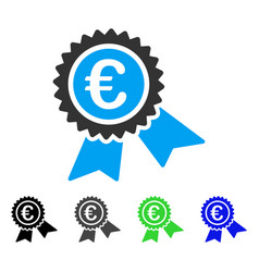 European guarantee seal flat icon vector