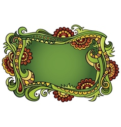 Fantasy fairy-tale floral frame vector image