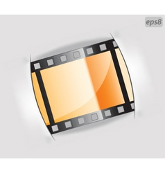 film strip frame vector image