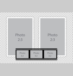 Film strip frames collage for photoalbum vector