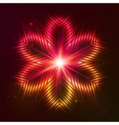 Fire red star vector