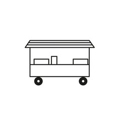 food store cart icon vector image