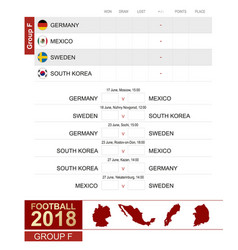 football 2018 group f match schedule all vector image