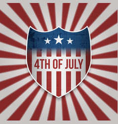 Fourth of july sign design template vector