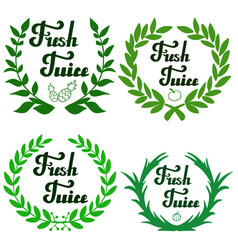 fresh juice hand written lettering vector image