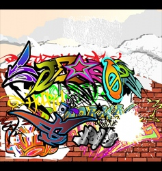 Graffiti wall vector