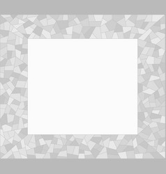 grey mosaic triangles abstract border vector image