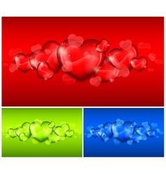 hearts color background 10 v vector image