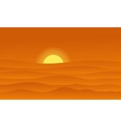 Hill landscape on orange backgrounds vector image