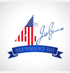independence day usa white vector image