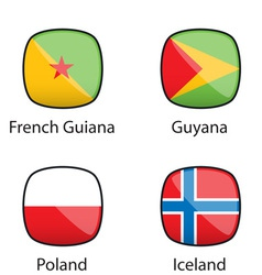 International Flags Buttons Sample vector