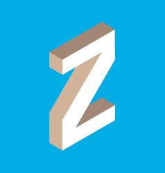 Isometric letter z vector