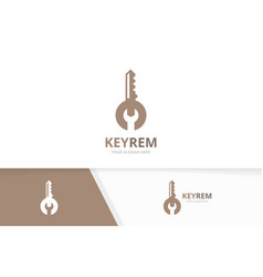 key and repair logo combination lock and vector image