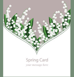 Lily valley delicate card frame vector