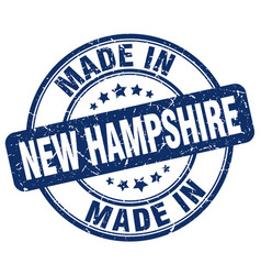 Made in new hampshire blue grunge round stamp vector