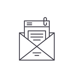 mailing list line icon concept mailing list vector image