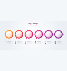 Minimalistic infographic concept with 6 options vector