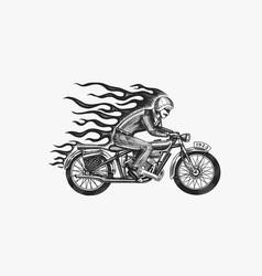 Motorcycle for biker club templates vintage vector