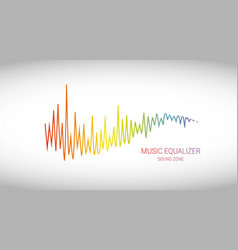 Music wave logo color pulse audio player vector