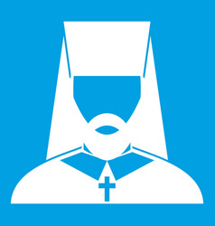 orthodox priest icon white vector image