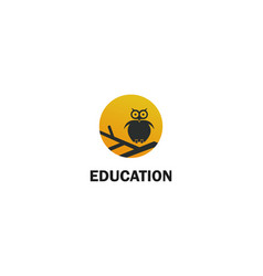 owl education logo vector image