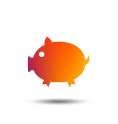 Piggy sign icon pork symbol vector