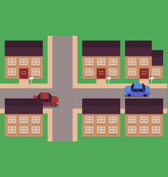pixel art neighborhood vector image