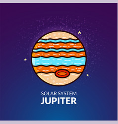 planet jupiter vector image