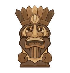 Polynesian tiki idol icon cartoon style vector