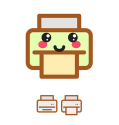 printer kawaii icon vector image