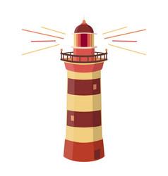 printlighthouse logo path lighting flat design vector image
