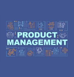 Product development word concepts banner vector