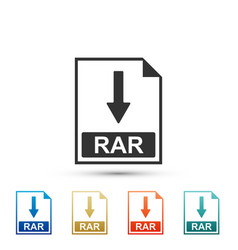 Rar file document icon download rar button icon vector