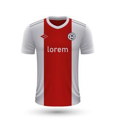 Realistic soccer shirt ajax amsterdam 2022 jersey vector