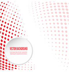 red background with circular halftone vector image
