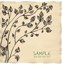 romantic tree invitation parchment card template vector image