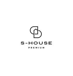 s letter house home dd initial lettermark logo vector image