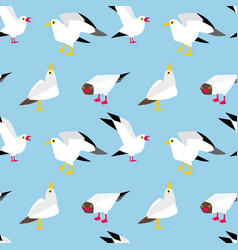 seagulls flying in the sky vector image