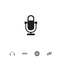 set of 5 editable audio icons includes symbols vector image